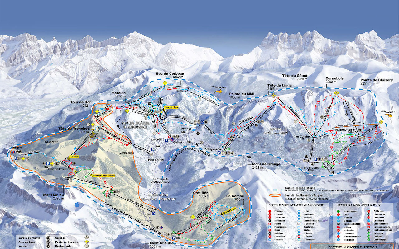 Piste Maps Morzine, Avoriaz and Les Gets | Chilly Powder